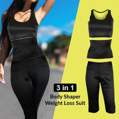 3-IN-1 BODY SHAPER WEIGHT LOSS SUIT