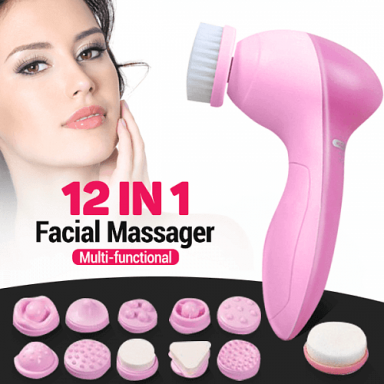 FACIAL MASSAGER 12 IN 1 MULTI-FUNCTIONAL WASH BRUSH